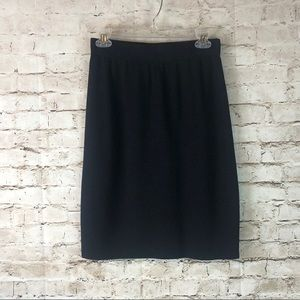 Women's St. John Basics Black Santana Knit Skirt 6